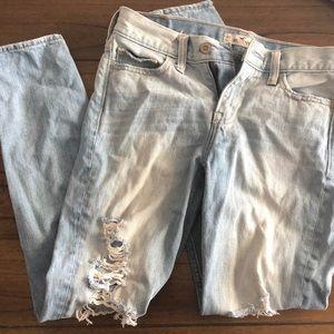 Hollister ripped distressed boyfriend jeans
